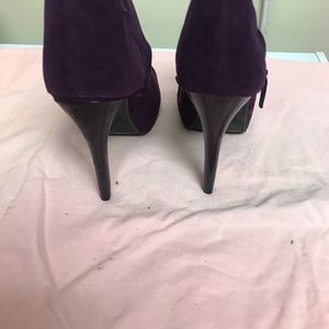 Open toe ankle booties never worn still have box